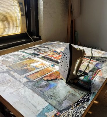 Encaustic iron and painting